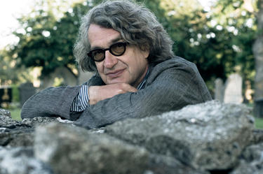 "Director Wim Wenders on the set of ""Pina."""