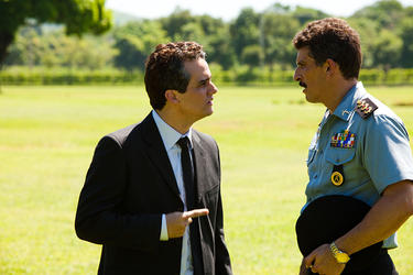 "Wagner Moura as Captain Nascimento and Milhem Cortaz as Fabio in ""Elite Squad: The Enemy Within."""