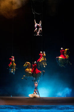 "A scene from ""Cirque du Soleil: Worlds Away 3D."""
