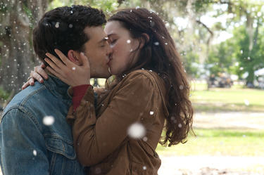 "Alden Ehrenreich as Ethan Wate and Alice Englert as Lena Duchannes in ""Beautiful Creatures."""