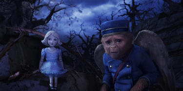 "China Girl voiced by Joey King and Finley voiced by Zach Braff in ""Oz: The Great and Powerful."""