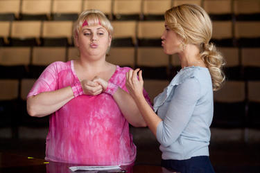 "Rebel Wilson and Anna Camp in ""Pitch Perfect."""