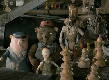 "A scene from ""Toys in the Attic."""