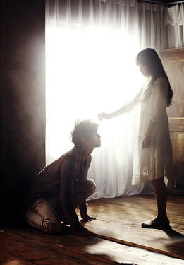 "Joong-ki Song and Bo-yeong Park in ""A Werewolf Boy."""