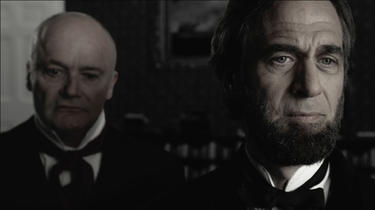 "A scene from ""Saving Lincoln."""