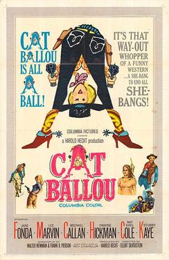 "Poster art for ""Cat Ballou."""