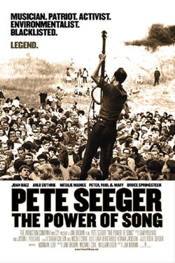 "Poster art for ""Pete Seeger: The Power of Song."""