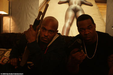 "``Sticky Fingaz'' Jones as Richard Allen and Busta Rhymes as Al Bowen in ""Breaking Point."""