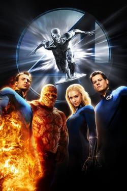 "Poster art for ""Fantastic Four: Rise of the Silver Surfer."""