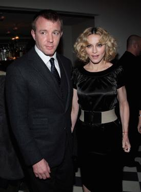 "Madonna and Guy Ritchie at the after party of ""Revolver."""