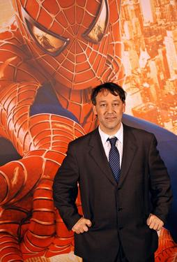"Sam Raimi at the Paris premiere of ""Spider-man 2""."