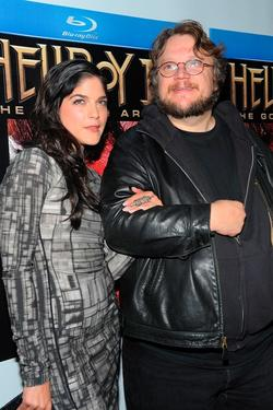 "Selma Blair and Guillermo del Toro at the ""Hellboy II: The Golden Army"" DVD and Blu-Ray release party."