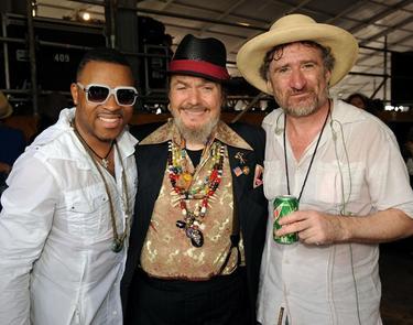 Davell Crawford, Dr. John and Jon Cleary at the 2010 New Orleans Jazz and Heritage Festival.