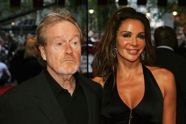"Ridley Scott and Giannina Facio at the European premiere of ""Kingdom Of Heaven."""