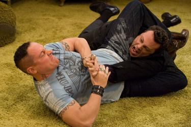 "Jon Favreau as Denver and Vince Vaughn as Brad in ""Four Christmases."""