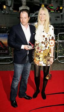 "Matthew Vaughn and Claudia Schiffer at the UK premiere of ""Spider-Man 3."""