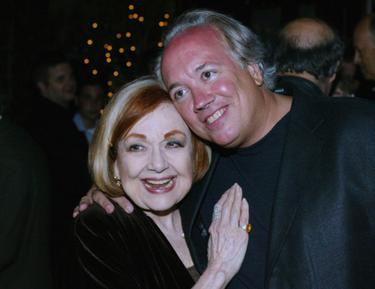 "Edie Adams and Rick McKay at the after party at the premiere of ""Broadway; The Golden Age""."