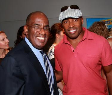 "Al Roker and Tiki Barber at the special screening of ""Surf's Up."""