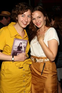 "Kristen Schaal and Amber Tamblyn at the ""Bang Ditto"" book release party."