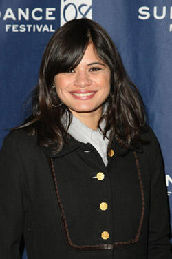 "Melonie Diaz at the premiere of ""Assassination of a High School President"" during the 2008 Sundance Film Festival."