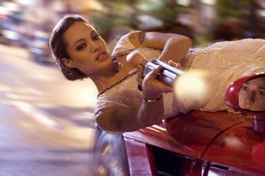 "Angelina Jolie in ""Wanted."""