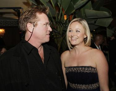 "Val Kilmer and his date at the afterparty for the premiere of ""The 11th Hour"" at the The Cabana Club."