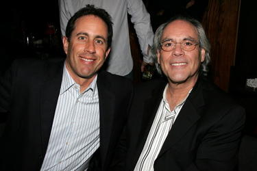 "Robert Klein and Jerry Seindfeld at the Comedy Central special screening of ""Legends: Rodney Dangerfield""."