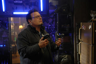 "Wayne Knight as Micro in ""Punisher: War Zone."""