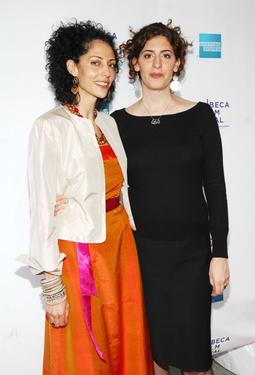 "Suheir Hammad and Annemarie Jacir at the premiere of ""Salt Of This Sea"" during the 2009 Tribeca Film Festival."