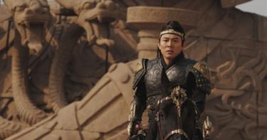 "Jet Li as Emperor Han in ""The Mummy: Tomb of the Dragon Emperor."""