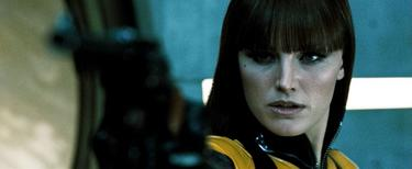 "Malin Akerman as Silk Spectre II in ""Watchmen."""