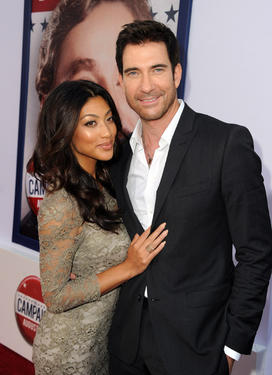 "Shasi Wells and Dylan McDermott at the California premiere of ""The Campaign."""