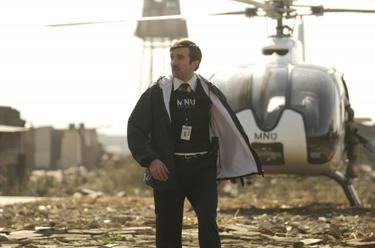 "Sharlto Copley in ""District 9."""