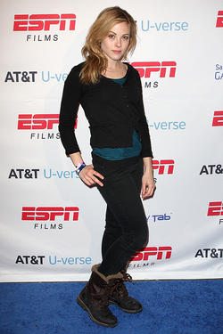 Julie Mond at the ESPN AT&T U-verse Lounge in Utah.