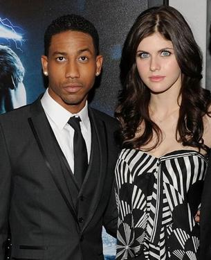 "Brandon T. Jackson and Alexandra Daddario at the premiere of ""Percy Jackson & The Olympians: The Lightning Thief."""