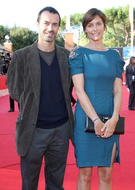"Andrea Occhipinti and Cary Lowell at the premiere of ""Hachico: A Dog's Story"" during the 4th Rome International Film Festival."