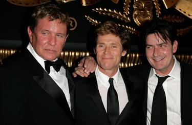 Tom Berenger, Willem Dafoe and Charlie Sheen at the 59th International Cannes Film Festival.