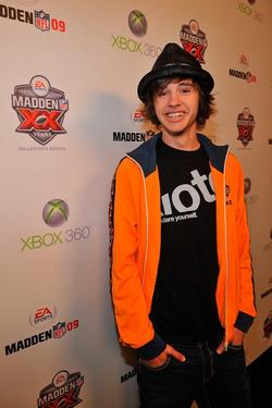 Matt Prokop at the Madden NFL 09 premiere party.
