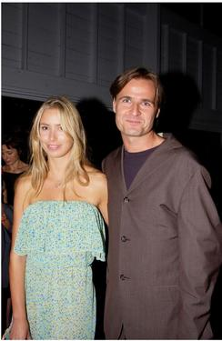 "Kathryn Eisman and her boyfriend Simon Reynolds at the premiere of ""A Doll House."""