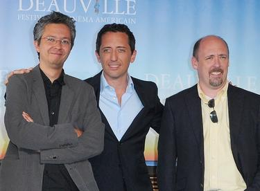 "Pierre Coffin, Gad Elmaleh and Chris Renaud at the photocall for ""Despicable Me"" during the 36th American Film Festival."