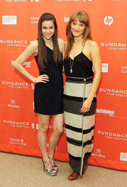 "Savannah Lathem and Alexia Rasmussen at the premiere of ""California Solo"" during the 2012 Sundance Film Festival."