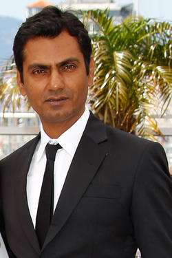 "Nawazuddin Siddiqui at the photocall of ""Miss Lovely"" during the 65th Annual Cannes Film Festival in France."