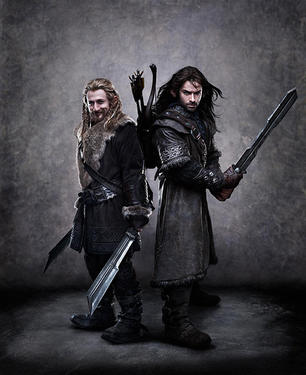 "Dean O'Gorman as Fili and Aidan Turner as Kili in ""The Hobbit: An Unexpected Journey."""