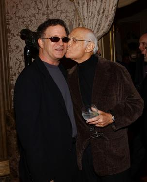 "Albert Brooks and Norman Lear at the launch party for Arianna Huffingtons new book ""Fanatics and Fools : The Game Plan For Winning Back America""."