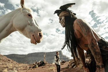 "Armie Hammer and Johnny Depp in ""The Lone Ranger."""