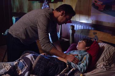 """Patrick Wilson as Josh Lambert and Ty Simpkins as Dalton Lambert in """"Insidious: Chapter 2."""""""