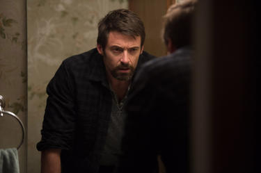 "Hugh Jackman as Keller Dover in ""Prisoners."""
