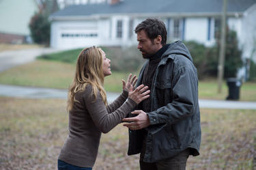 "Maria Bello as Grace Dover and Hugh Jackman as Keller Dover in ""Prisoners."""