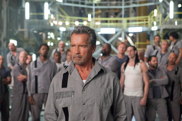 "Arnold Schwarzenegger in ""Escape Plan."""
