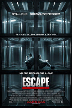 "Poster art for ""Escape Plan."""